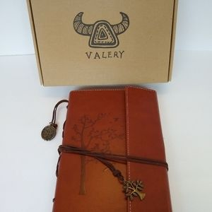 Valery Faux Leather Journal trees nature charm NEW